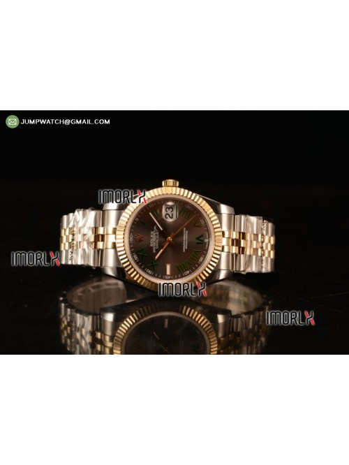 DateJust 41 126303 Best Edition YG Wrapped Grey Di...