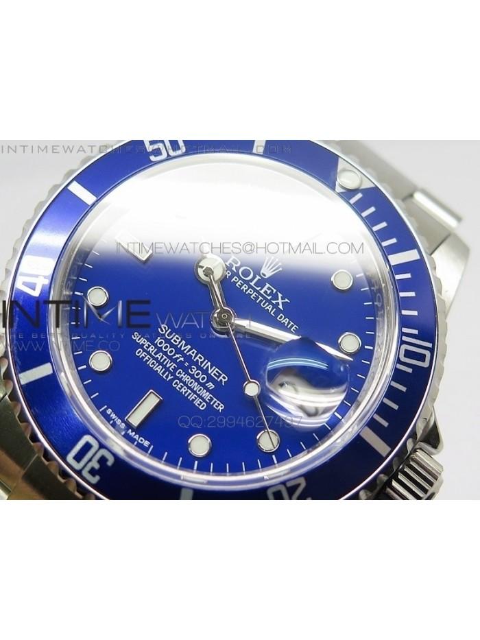 Submariner BP 16610 blue SS Case Blue Dial on Miyota 9015