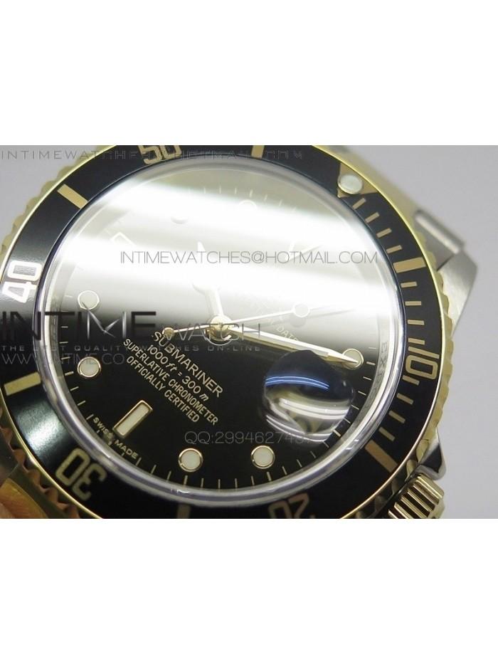 Submariner BP 16613 Black Two Tone Black Dial on Bracelet on Miyota 9015