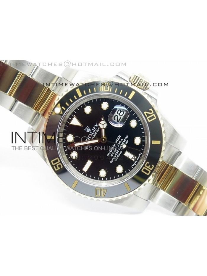 Submariner 116613 LN Noob 1:1 Best Edition YG Wrapped Bezel Superlumed Dial on SS/YG Bracelet A3135