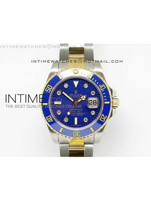Submariner 116613 LB Diamonds Markers Black Dial o...