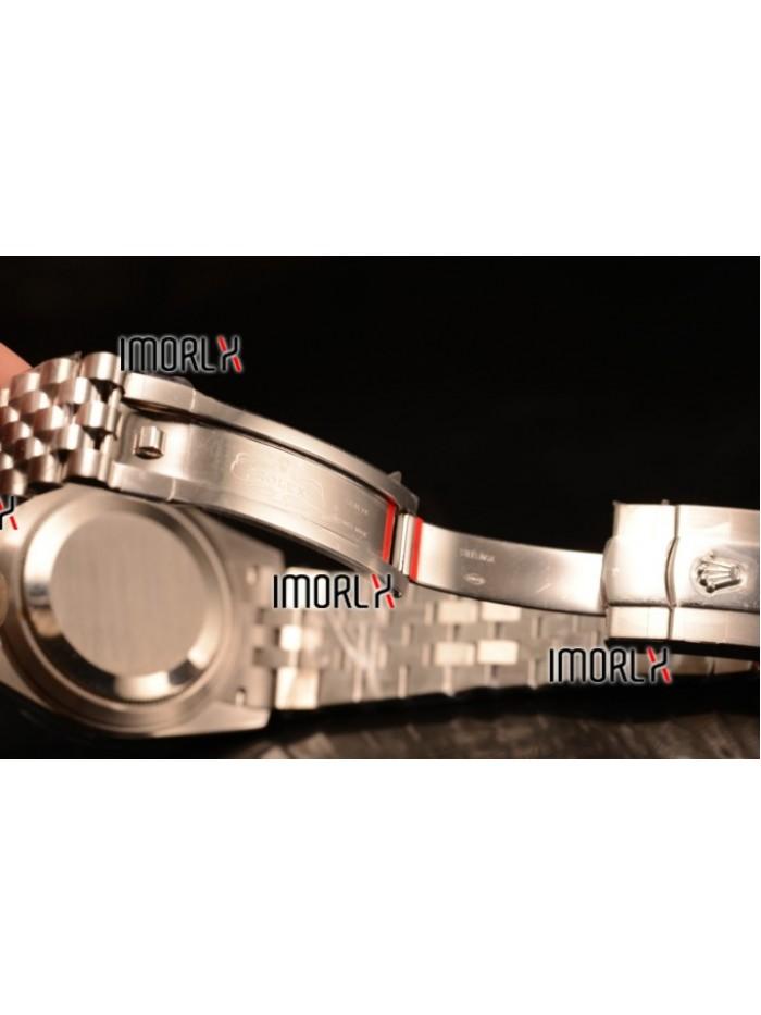 Rolex Datejust 37mm Swiss ETA 2836 Automatic Steel Case with Jubilee Steel Bezel Black Dial Diamond Steel Bracelet