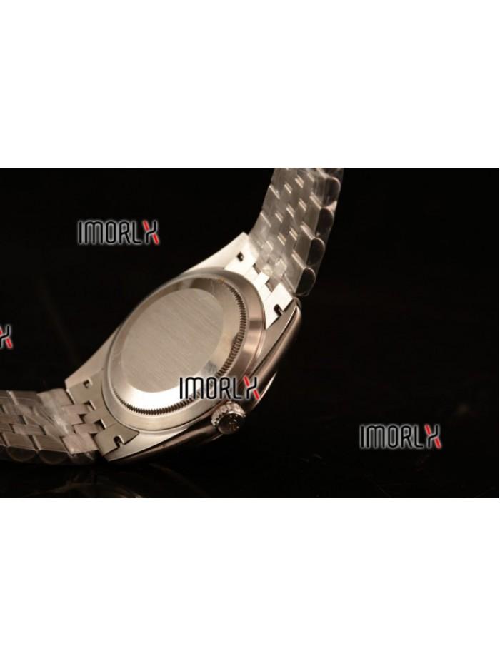 Rolex Datejust 37mm Swiss ETA 2836 Automatic Steel Case with Jubilee Steel Bezel Pink Dial Roman Steel Bracelet