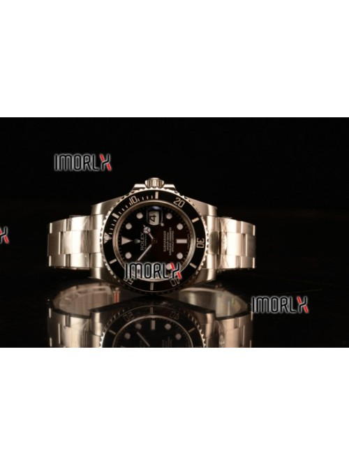 Rolex Submariner 3135 Auto 904L Steel Case with Bl...