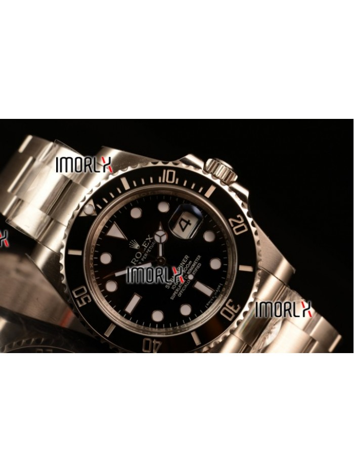 Rolex Submariner 3135 Auto 904L Steel Case with Black Dial and Steel Bracelet - 1:1 Origianl (AR)