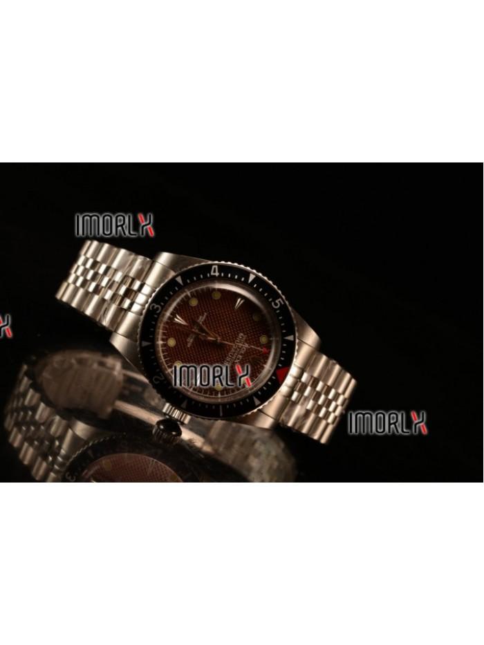 Rolex Milgauss Vintage Steel Case With Brown Dial Yellow Dot Jubilee Bracelet