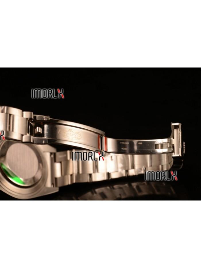 Rolex Explorer II Swiss ETA 2836 Steel Case Black Dial Steel Bracelet