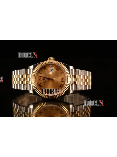 Rolex Datejust 37mm Swiss ETA 2836 Automatic Two T...