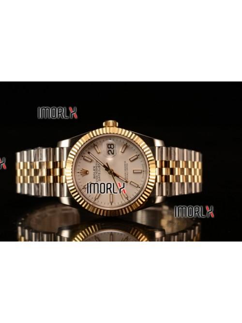 Rolex Datejust 37mm Swiss ETA 2836 Automatic Two T...