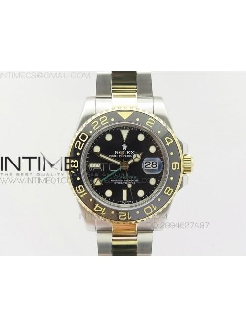 GMT-Master II 116713LN SS/YG BP Black Dial Ceramic...