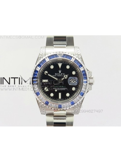 GMT-Master II 116759 SS BP Blue ruby crystal Bezel...