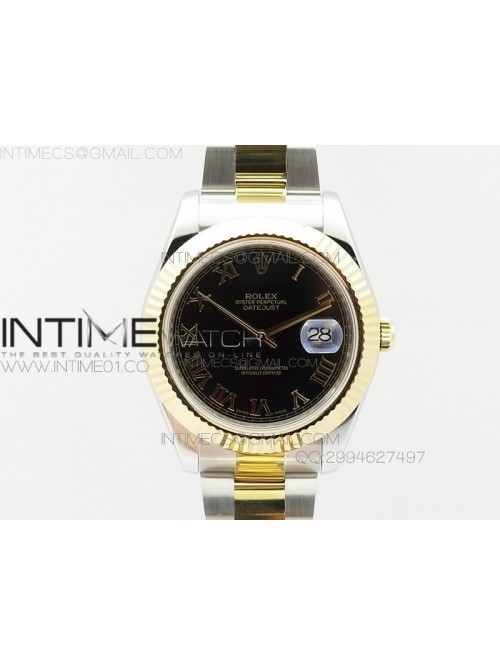 DateJustII 116333 SS/YG 41mm EW Best Edition Black...
