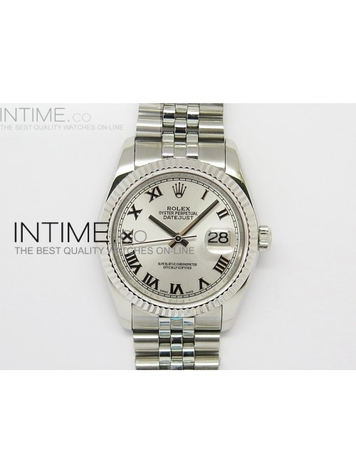 DateJust 116234 SS Sliver Dial Roman Markers on SS...