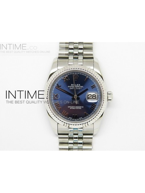 DateJust 116234 SS Blue Dial Roman Markers on SS B...