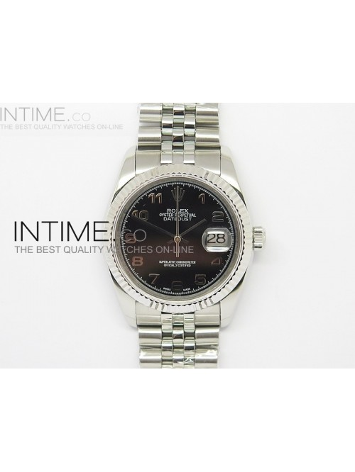 DateJust 116234 SS Black Dial Arabic numbers Marke...