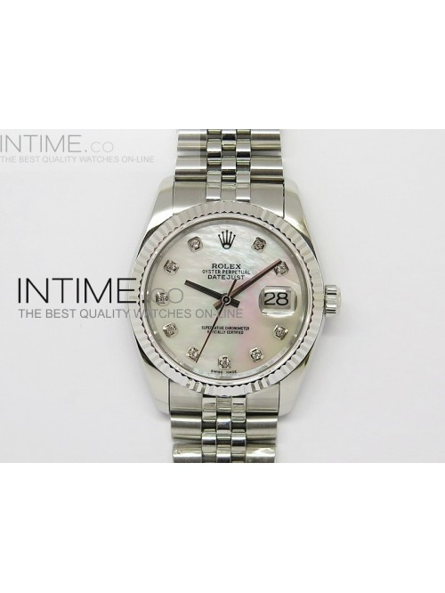 DateJust 116234 SS White MOP Dial on SS Bracelet S...