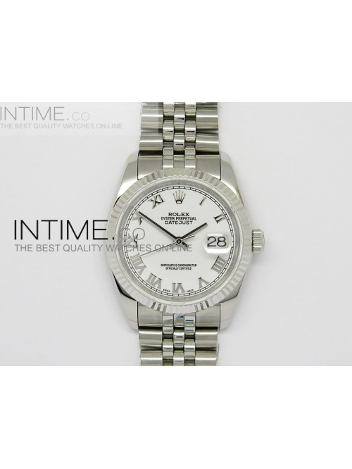DateJust 116234 SS White Dial Roman Markers on SS ...