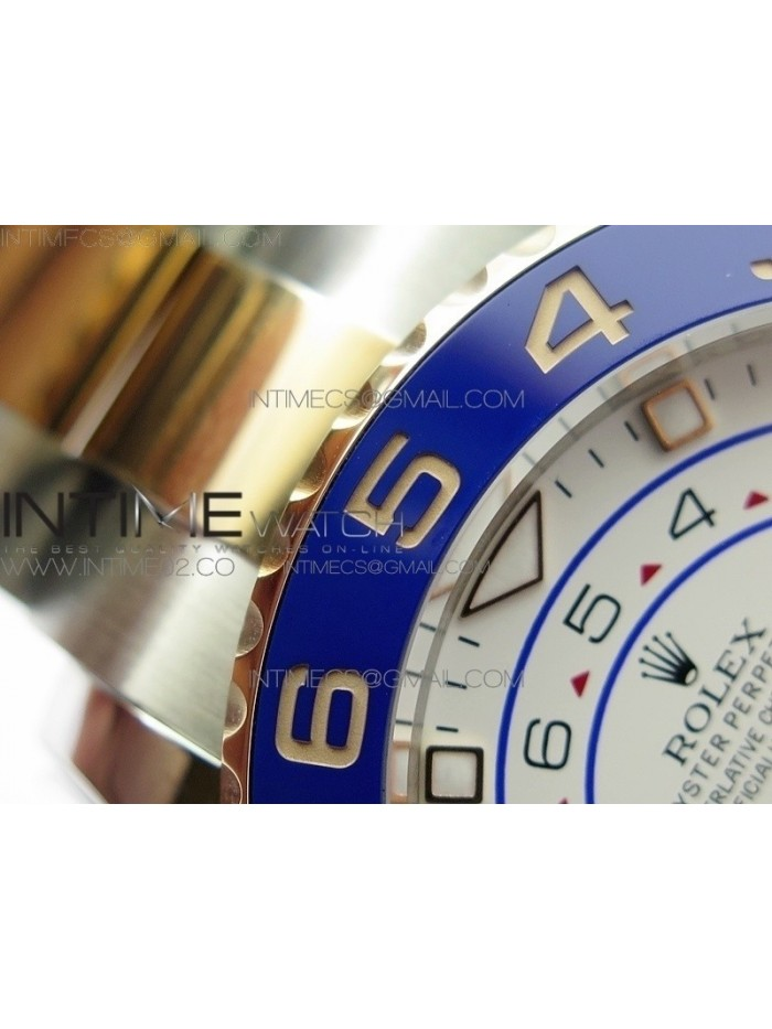 YachtMaster II 116681 SS/RG Blue Ceramic New Version Dial JF 1:1 Best Edition on SS/RG Bracelet A7750