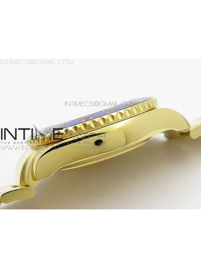 YachtMaster II 116688 YG JF 1:1 Best Edition White Dial Blue Ceramic Bezel on Bracelet A7750