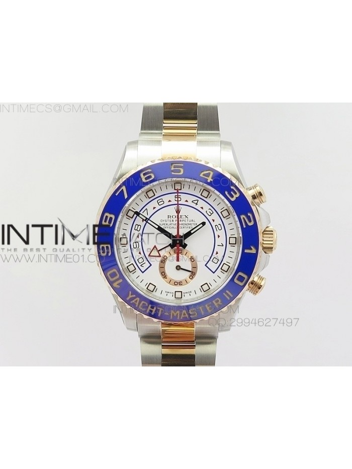 YachtMaster II 116681 SS/RG Blue Ceramic JF 1:1 Best Edition on SS/RG Bracelet A7750