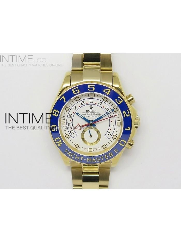 2014 YachtMaster II YG White Dial on YG Bracelet A7750