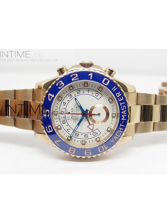 2014 YachtMaster II RG White Dial on RG Bracelet A7750