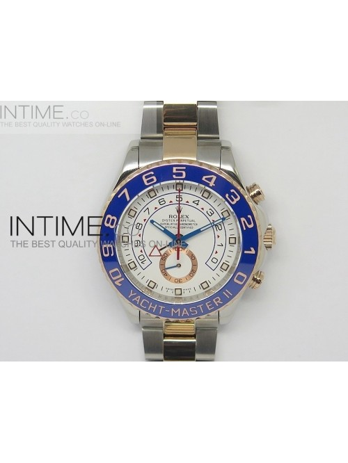 2014 YachtMaster II SS/RG White Dial on SS/RG Brac...