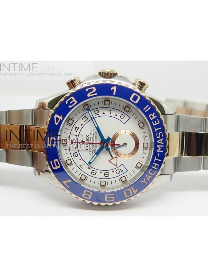 2014 YachtMaster II SS/RG White Dial on SS/RG Bracelet A7750