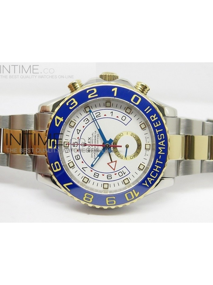 2014 YachtMaster II SS/YG White Dial on SS/YG Bracelet A7750