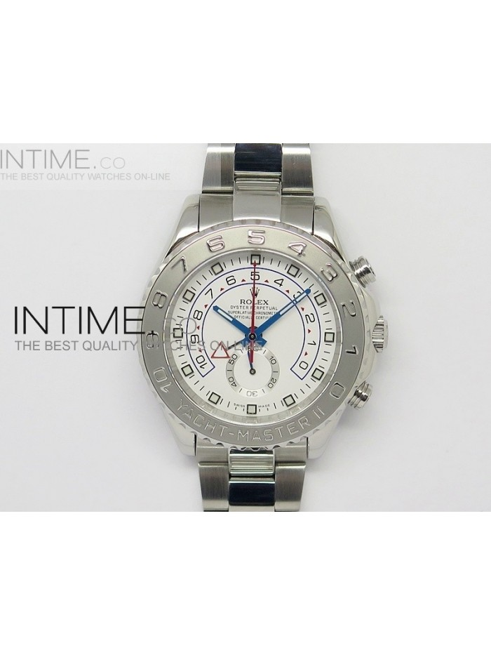 2014 YachtMaster II SS White Dial on Bracelet A7750