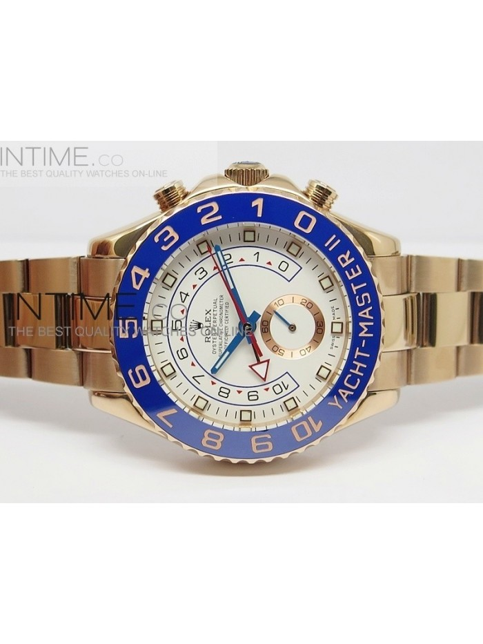 2014 YachtMaster II RG White Dial on RG Bracelet A2813