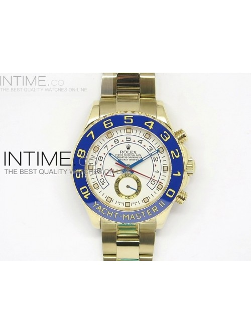 2014 YachtMaster II YG White Dial on YG Bracelet A...