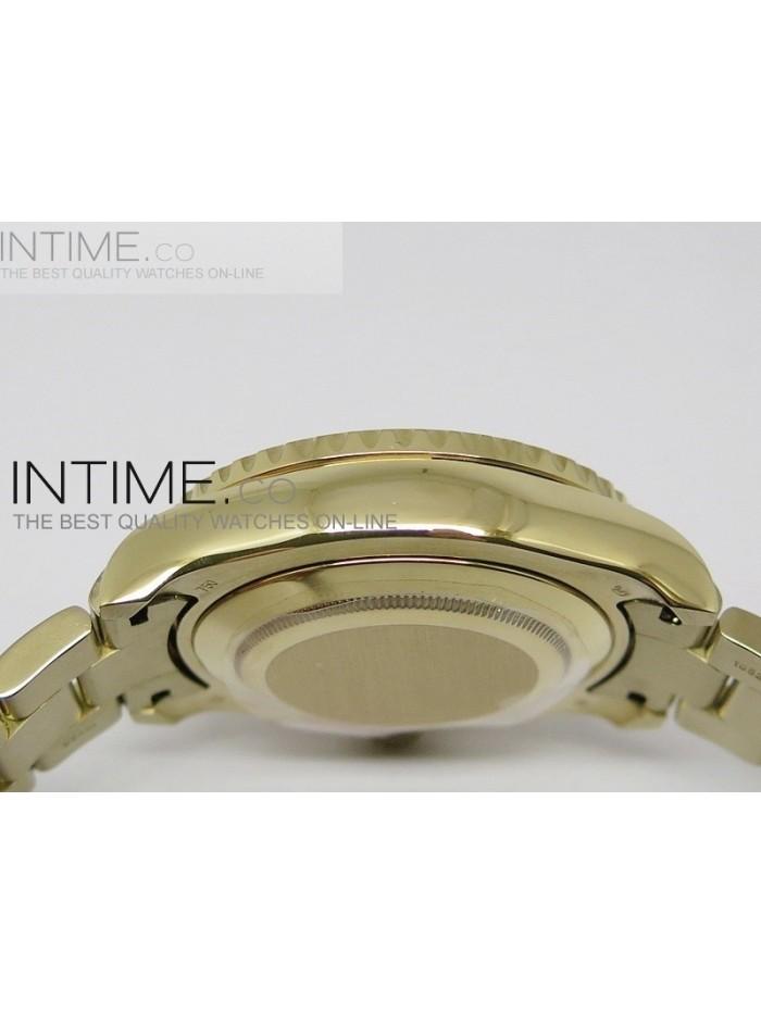 2014 YachtMaster II YG White Dial on YG Bracelet A2813