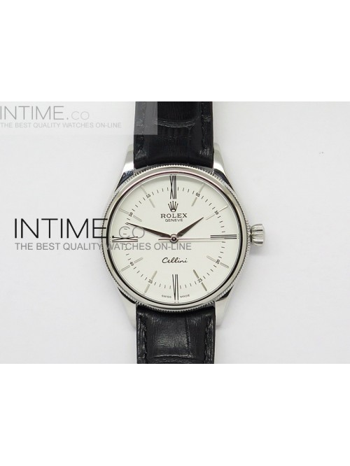 Cellini 50509 BP Maker SS White Dial on Brown Leat...