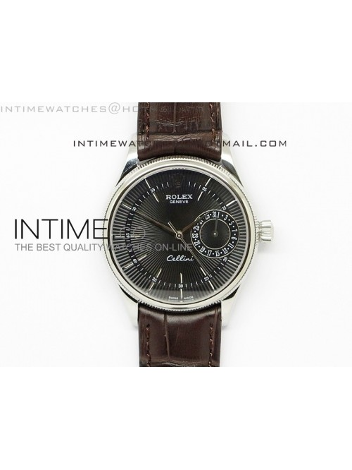 Cellini Date BP Maker SS Black Dial on Brown Leath...