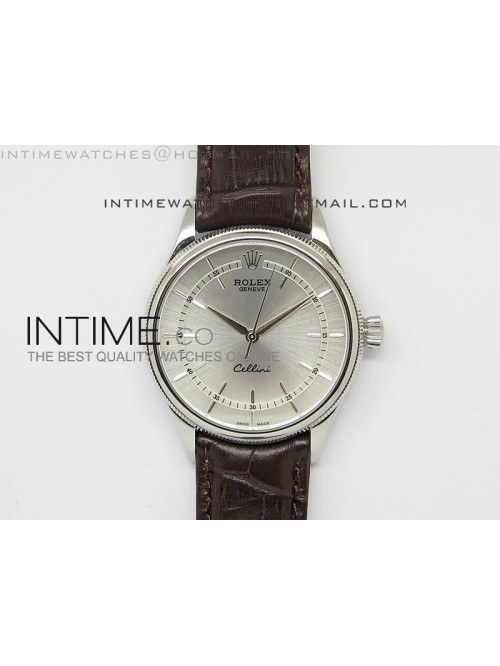 Cellini 50509 BP Maker SS Sliver Dial on Brown Lea...