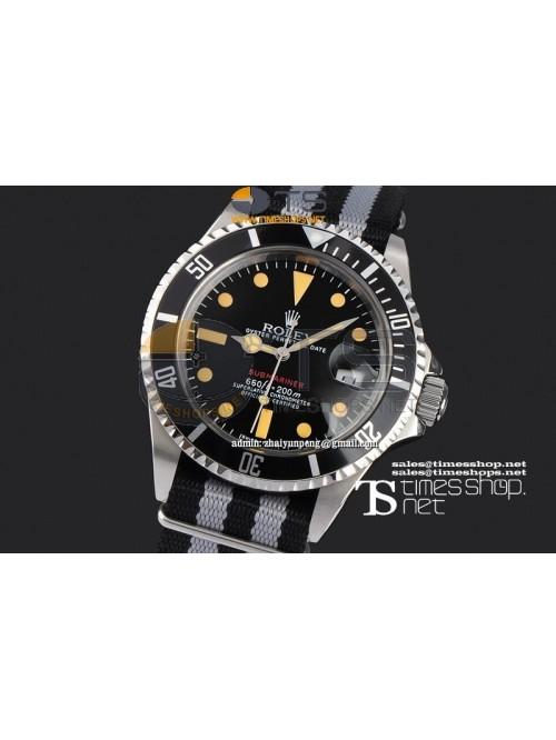 RO7541-  Vintage Submariner Black Dial SS/NY