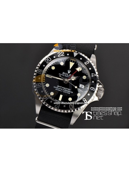 RO7490-  Vintage GMT-Master Black Dial SS/SS