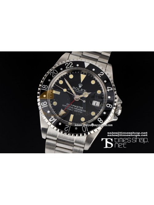 RO5350 -  Vintage GMT Black Dial SS/SS