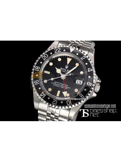 RO4560 -  Vintage GMT-Master Black Dial SS/SS
