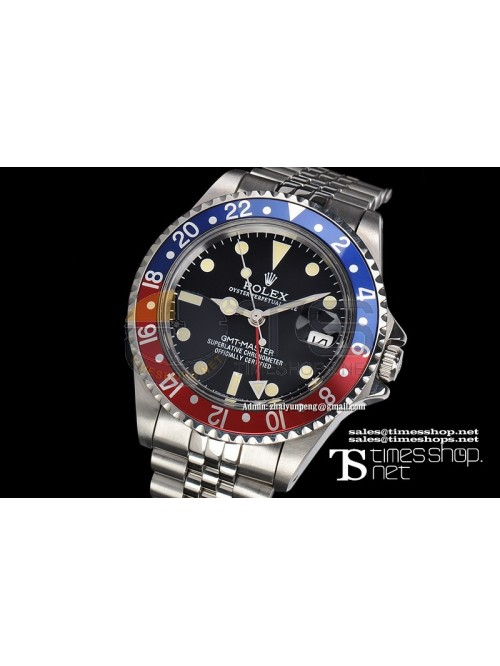 RO4580 - Vintage GMT-Master Black Dial SS/SS