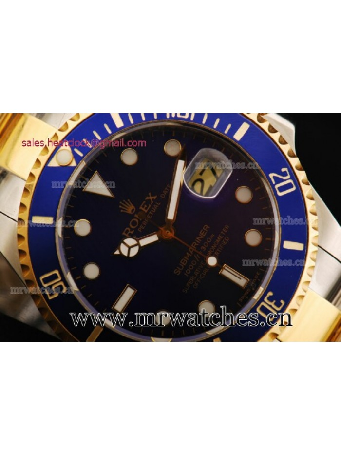 Rolex Submariner 43mm Two Tone Mens Watch - 116613