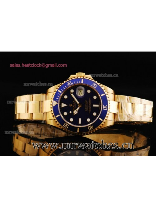 Rolex Submariner 43mm Yellow Gold Mens Watch - 116...