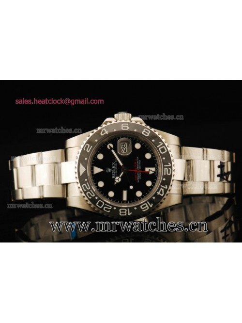 Rolex GMT-Master II Black Dial Full Steel Mens Wat...