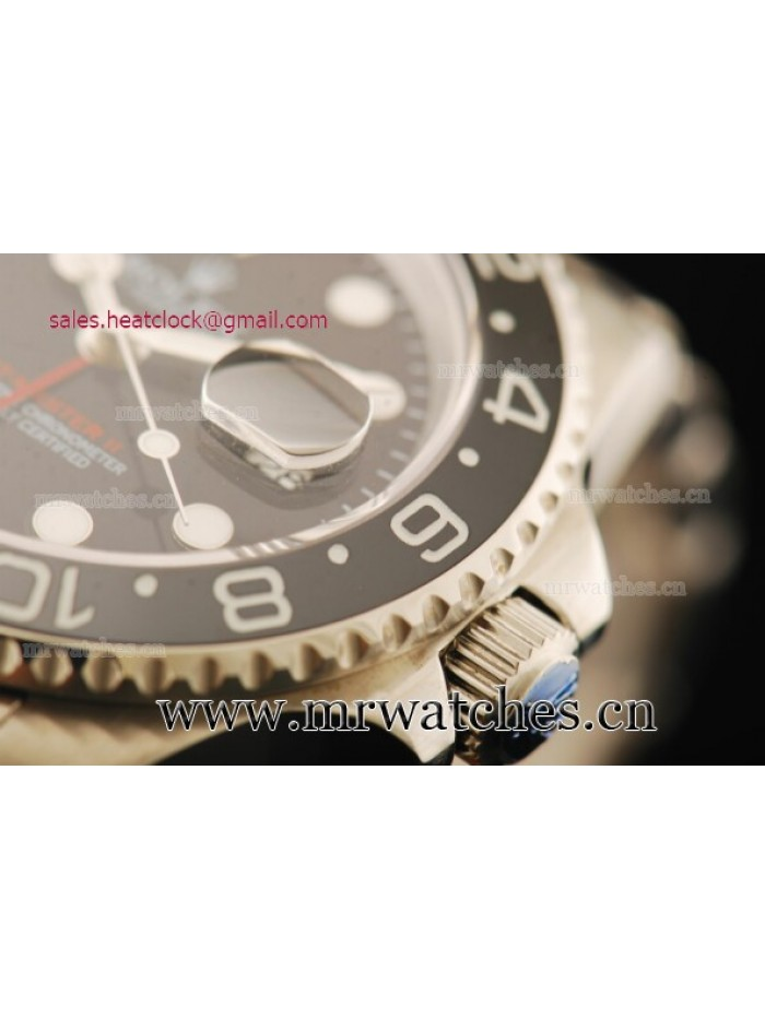 Rolex GMT-Master II Black Dial Full Steel Mens Watch - 116710SL