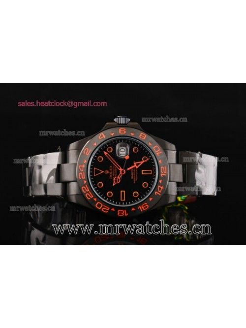 Rolex Stealth Flame Explorer II Bamfor GMT PVD Men...