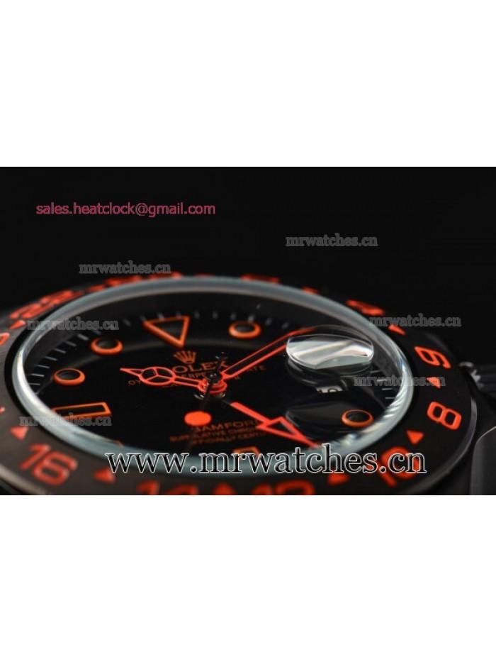 Rolex Stealth Flame Explorer II Bamfor GMT PVD Mens Watch - 16570