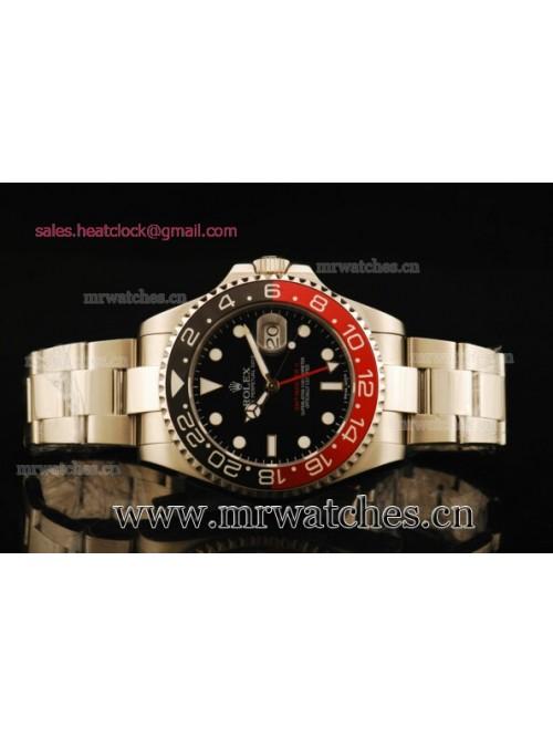 Rolex GMT-Master II Black/Red Bezel Full Steel Men...