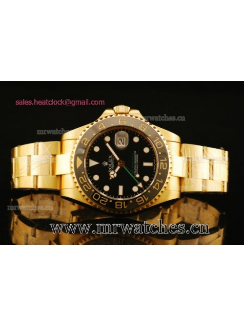 Rolex GMT-Master II Yellow Gold Mens Watch - 16713...