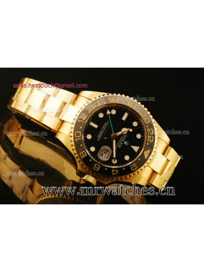 Rolex GMT-Master II Yellow Gold Mens Watch - 167130G